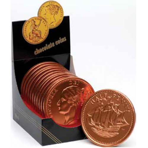 Large Half Penny Chocolate Coin