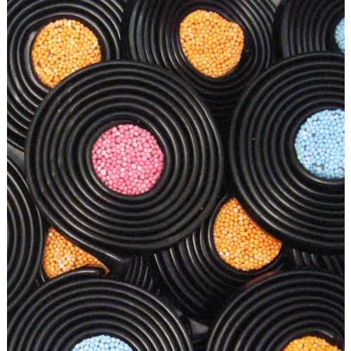 Liquorice Catherine Wheels Box
